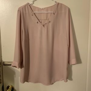 Women's Pink Blouse Maurices Brand